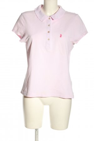 Juicy Couture Polo Shirt pink allover print casual look