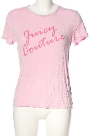 Juicy Couture Print-Shirt pink Schriftzug gedruckt Casual-Look