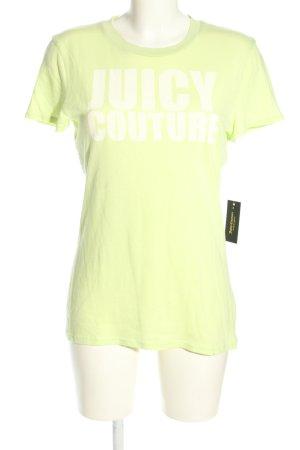 Juicy Couture Print-Shirt blassgelb Schriftzug gedruckt Casual-Look