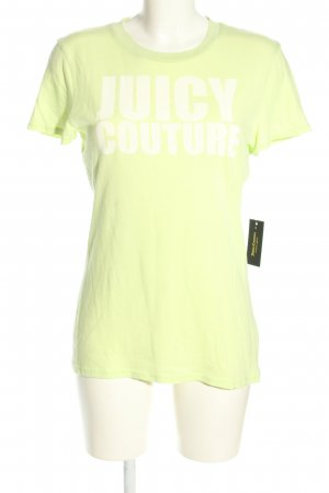 Juicy Couture T-shirt imprimé jaune primevère lettrage imprimé