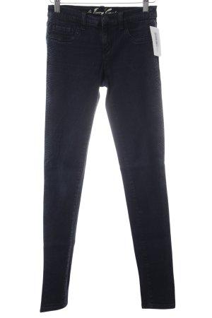 Juicy Couture Röhrenjeans dunkelblau-hellgrau Animalmuster Jeans-Optik
