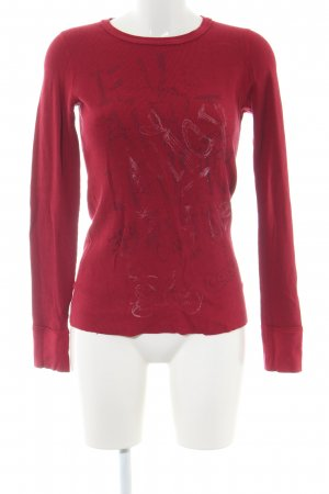 Juicy Couture Rundhalspullover rot Schriftzug gedruckt Casual-Look