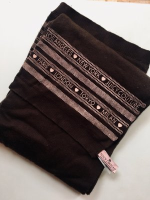 Juicy Couture Woolen Scarf black brown cotton