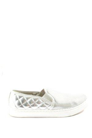 Juicy Couture Instapsneakers zilver quilten patroon casual uitstraling