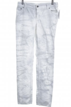 Juicy Couture Slim Jeans weiß-hellgrau Batikmuster Casual-Look