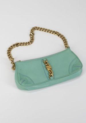 Juicy Couture Minitasje lichtblauw-zandig bruin Leer