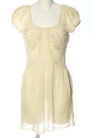 Juicy Couture Letnia sukienka kremowy Wzór w kwiaty Elegancki