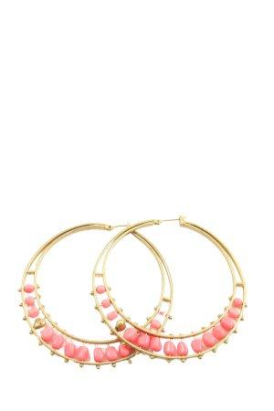 Juicy Couture Pendientes de cuentas color oro estilo «business»