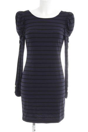 Juicy Couture Stretchkleid dunkelblau-schwarz Streifenmuster schlichter Stil