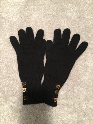 Juicy Couture Guantes de punto negro Algodón