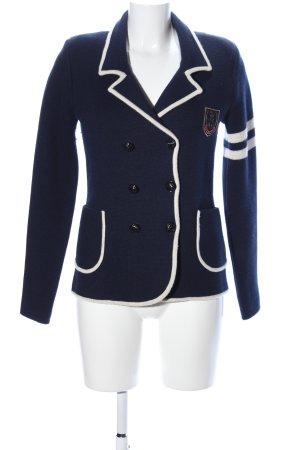 Juicy Couture Strickjacke blau-wollweiß Streifenmuster Business-Look