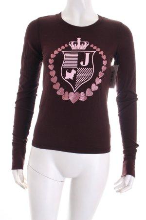 Juicy Couture Sweatshirt brun rouge-rose clair imprimé avec thème