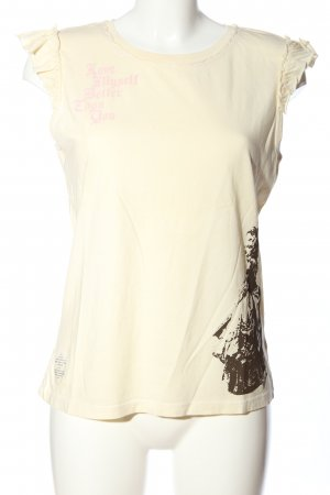 Juicy Couture T-Shirt creme-braun Motivdruck Casual-Look