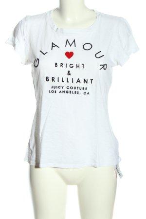 Juicy Couture T-Shirt weiß-schwarz Schriftzug gedruckt Casual-Look