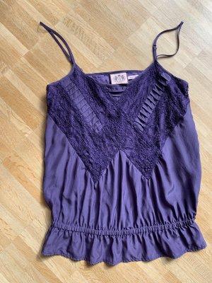 Juicy Couture Haut à fines bretelles bleu violet