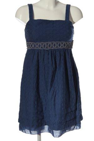 Juicy Couture Trägerkleid blau-hellgrau abstraktes Muster Casual-Look
