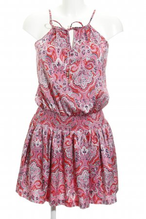 Juicy Couture Trägerkleid abstraktes Muster Perlenverzierung