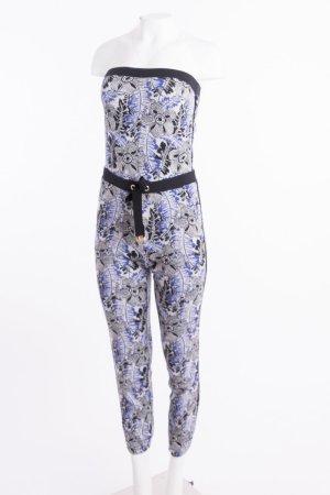 JUICY COUTURE - Trägerloser Feinstrick-Jumpsuit mit floralem Muster Blau
