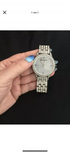 Juicy Couture Reloj con pulsera metálica gris claro-color plata