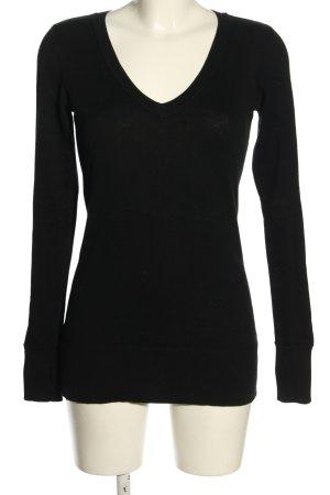 Juicy Couture V-Ausschnitt-Pullover schwarz Casual-Look