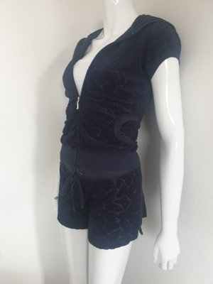 Juicy Couture Krótkie szorty ciemnoniebieski-srebrny