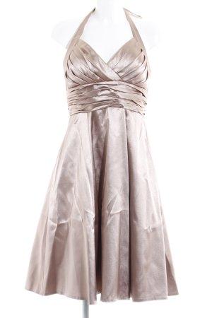 Juju & Christine A-Linien Kleid creme-goldfarben Elegant