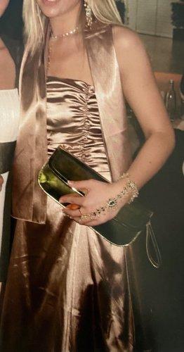 Juju & Christine Suknia balowa taupe-złoto