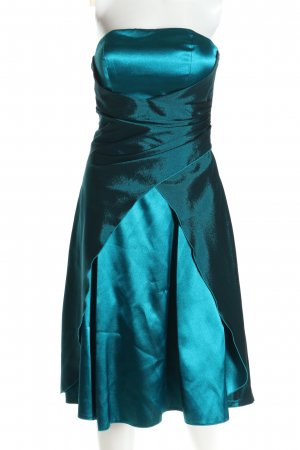 Juju & Christine Robe à corsage turquoise élégant