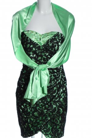 Juju & Christine Minikleid grün-schwarz Elegant