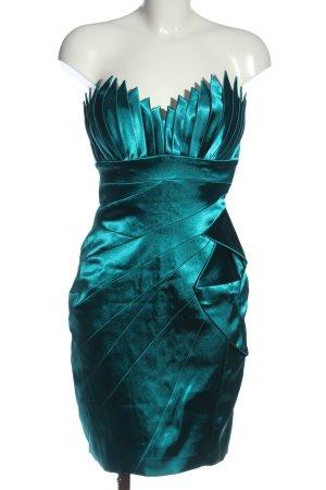Juju & Christine schulterfreies Kleid blau Elegant