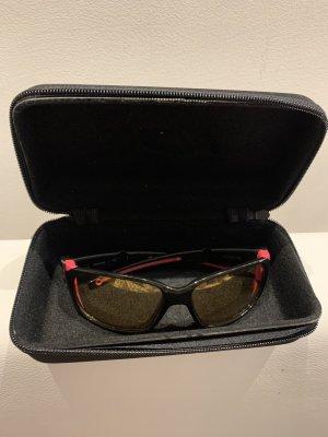 Okulary pilotki czarny-różowy