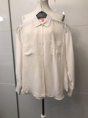 Jil Sander Blusa de seda blanco puro-blanco