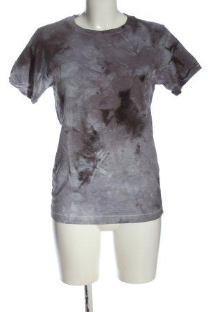 Julia Andben Batik shirt lichtgrijs abstract patroon casual uitstraling