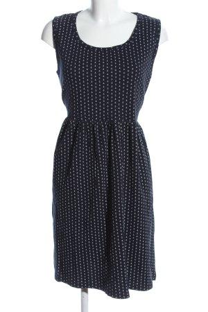 Julia Brown Jerseykleid schwarz-weiß Allover-Druck Casual-Look