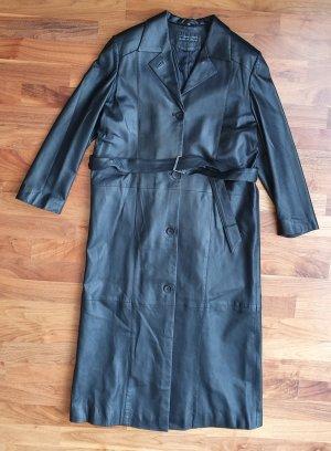 Julia S. Roma Manteau en cuir noir