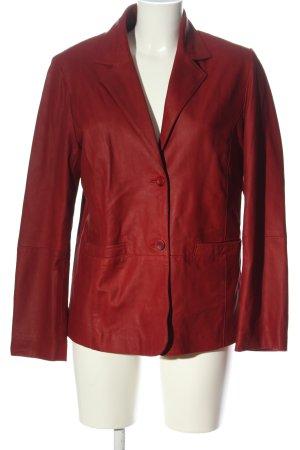 Julia S. Roma Blazer en cuir rouge style décontracté