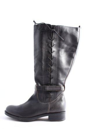 Julia S. Wide Calf Boots black casual look