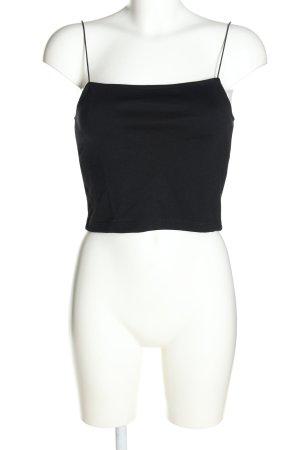 Julia Wieniawa x NA-KD Top tipo bustier negro look casual