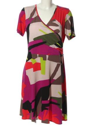 Julie C. Jerseykleid abstraktes Muster Casual-Look