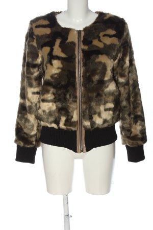 Julie Fake Fur Jacket camouflage pattern casual look