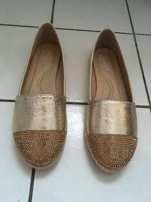Juliet Espadrillas oro-color carne