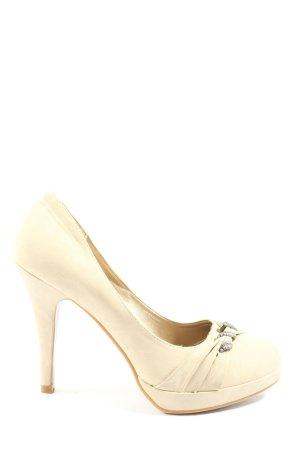 Juliet High Heels wollweiß Business-Look