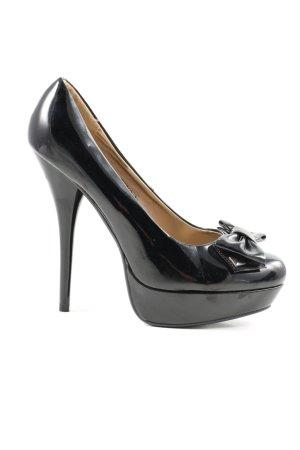Juliet High Heels schwarz Glanz-Optik