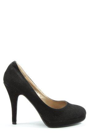 Juliet High Heels schwarz Business-Look