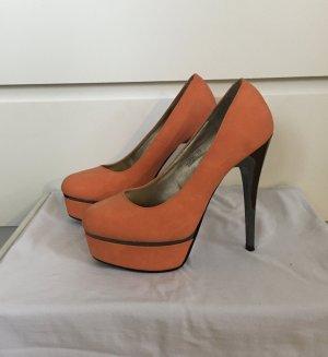 Juliet High Heels orange Gr 38 Sexy Boho Blogger Pumps
