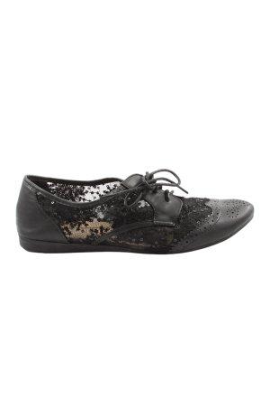 Juliet Sneakers met veters zwart casual uitstraling