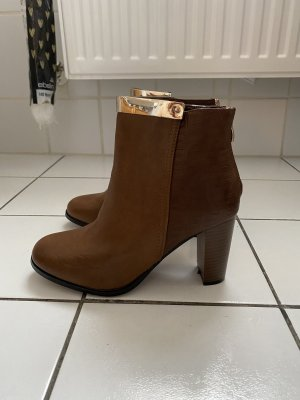Juliet Stiefeletten Ankle Boots Gr 38 cognac