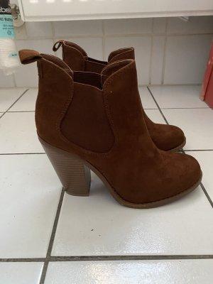 Juliet Botas deslizantes coñac-marrón