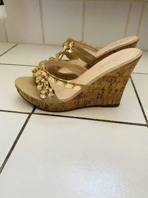 Juliet Wedges Keilabsatz Sandalen Pantoffeln Gr 37