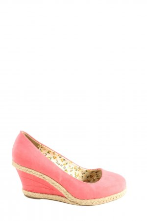 Juliet Wedge Sandals pink-natural white flower pattern casual look